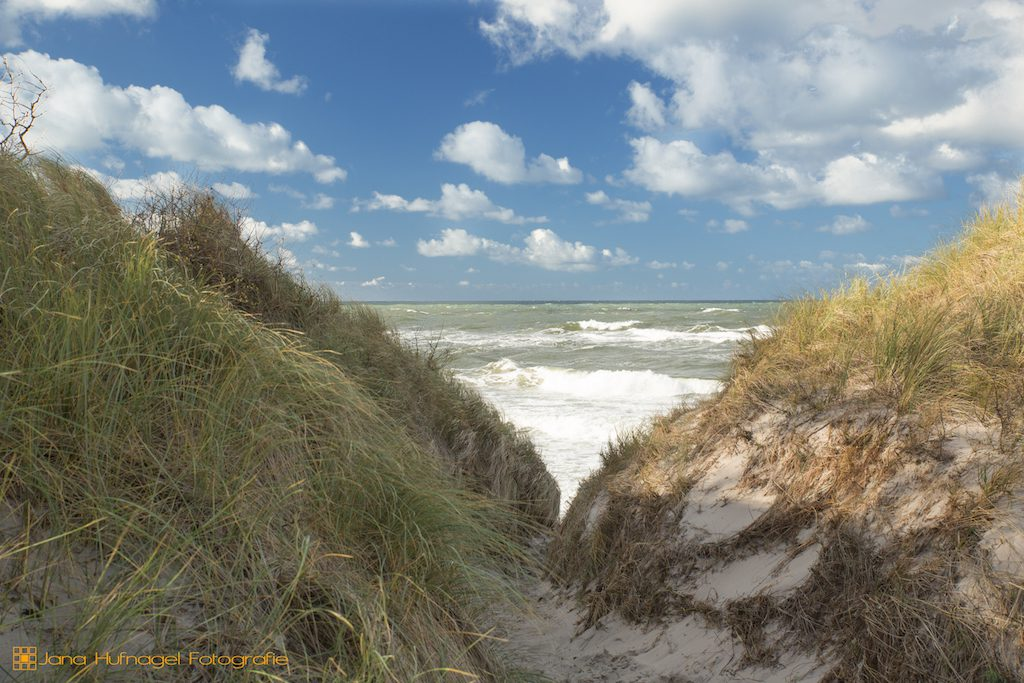 Strandübergang zum wildromantischen Weststrand auf dem Darß